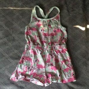 Flamingo girls romper